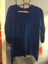 NWT Oh My Gauze Arty Top Size 1 Lagenlook Breathable Tunic 3/4 Sleeve(14 colors)