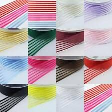 Berisfords Striped Satin Organza Mystery Ribbon 10 15 25mm Bow Wedding Christmas