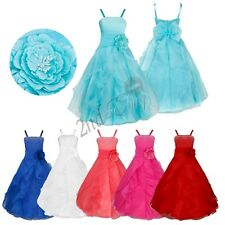 Flower Girl Dress Princess Birthday Wedding Bridesmaid Pageant Formal Tutu Dress