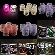 6pcs Mix Styles Christmas XMAS Snowfake LOVE Heart Candle Tea Lights Holders