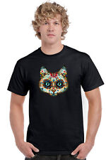Men's T Shirt Psychedelic Cat Short Sleeve Tee