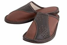 Mens Soft and Comfort Classic Slippers Slip On Warm Lining Flip-Flops FOS131K