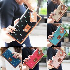 Fashion Women PU Leather Wallet Lady Long Card Holder Handbag Bag Clutch EFFU