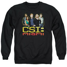 Csi Miami The Cast In Black Mens Crewneck Sweatshirt Black