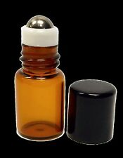 5/8 Dram Amber Sample Vial with Stainless Steel Roller (Pack of 5)