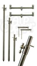 NGT Stainless Steel Solid Bankstick Buzzer Bar Set Up + Stabilisers Carp Fishing