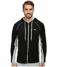 Fila Hooded Jacket Mens Lightweight I Got You Covered Full-Zip Jacquard Mesh Top