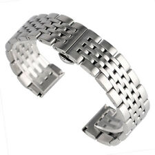 20/22/24mm Solid Stainless Steel Bracelet Silver Watch Band Strap Replacement