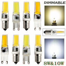 8W 10W Dimmable G9 E14 220V COB LED Light Silicone Crystal Lamps Warm White Bulb