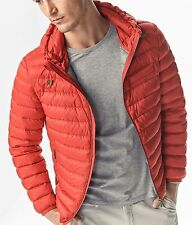 MASSIMO DUTTI MEN'S 2017 SUPER LIGHT QUILTED JACKET WITH HOODRED S-XXL 3419/052