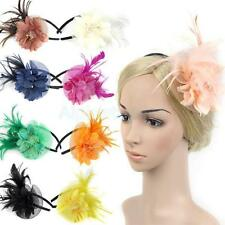 Wedding Feather Fascinators Flower Veil Hat Hairband Party Costume