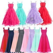 Chiffon Flower Girl Dress Party Formal Princess Wedding Birthday Bridesmaid Kids