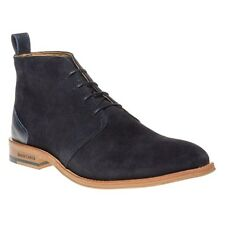 New Mens Simon Carter Blue Byrd Suede Boots Chukka Lace Up
