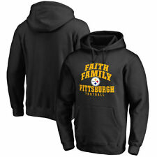 Pittsburgh Steelers NFL Pro Line Faith Family Pullover Hoodie - Black - NFL
