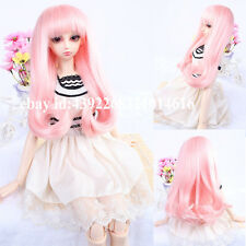 Sweet  FashionPink curling long hair wig For 1/3 BJD LUTS PULLIP SD Doll Wig