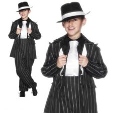 Zoot Suit Costume Childrens Gangster 1920s Fancy Dress Outfit Ages 4-12