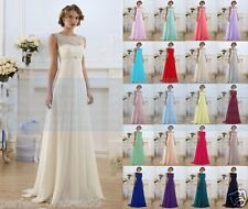 New Lace Formal Wedding Dress Evening Party Ball Gown Long Prom Bridesmaid Dress