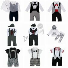 Romper Jumpsuit Newborn Baby Boys Clothes T-shirt Hooded Tops Pants Outfits Set