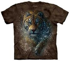 Youth: Tiger Splash Kids T-Shirt Brown Shirt Tee New