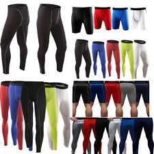 Men Compression Under Base Layer Gear Skin Shorts Long GYM Pants Tight Sportwear