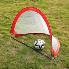 2 Sets Portable Children Mini Football Goal Nets Post Kids Soccer Goals NEW R6X3