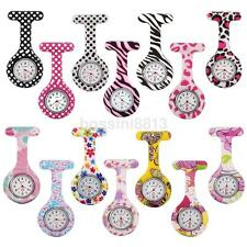 New Silicone Brooch Tunic Watch Fob Nursing Nurse Pendant Quartz Pocket Watch UK
