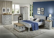Seconique Georgia Wooden Sleigh Bed - 4ft6 Double, 5ft King Size - White or Grey