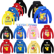 Kids Boys Girls Pokemon Go Pikachu Hoodies Tops Sweatshirt T-Shirt Outwear 3-10Y