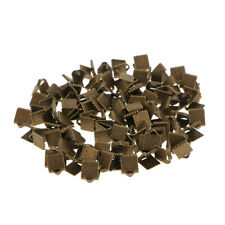 100Pcs Antique Bronze Cord End Crimps Bead Caps Crimp Clasps DIY Jewelry Finding