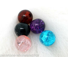 Wholesale Lots Mixed Crackle Glass Round Beads Findings 6mm dia.