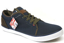 Mens Lambretta Navy Canvas Lace Up Plimsolls/Casual Shoes with Chunky Sole SIMBA
