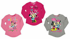 Girls Disney Minnie Mouse Long Sleeve T-shirt in 3 Colours