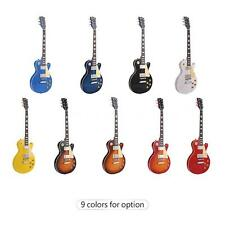 ammoon 6 String Solid Wood Electric Guitar 23 Frets Basswood Body Blue P8P1
