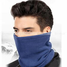 Unisex Thermal Thick Fleece Warm Mask Beanie Hat Scarf Hood Head Neck Warmer