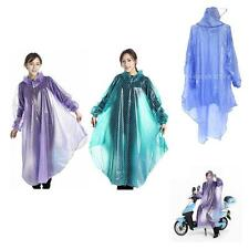 Clear Waterproof Outdoor Cycling Jacket Raincoat Rain Coat Hooded Poncho Cape