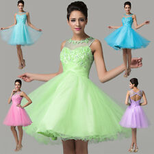 New Teens Short Tulle Cocktail Party Formal Evening Ball Prom Dress Wedding Gown