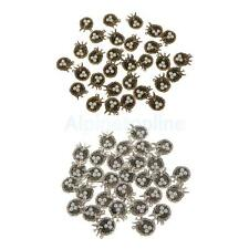 30 Bird's Nest Faux Pearl Bead Charm Crystal Birthstone Pendant Jewelry Making