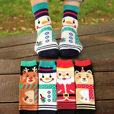 Christmas Women Winter Warm Cotton Socks Santa Claus Reindeer Snowman Bear Gifts