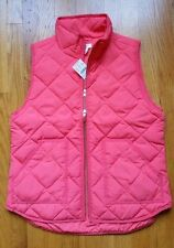 NWT J.Crew factory Excursion Quilted Novelty Puffer Vest Bohemian Red M & L