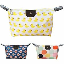 Waterproof Pencil Case Travel Bag Purse Storage Pouch Cosmetic Makeup Handbag