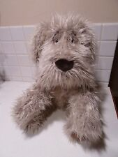 """Large Plush Toy RUSS BERRIE Shaggy Terrier Puppy Dog FURLY Gray Stuffed 22"""""""