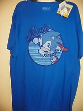 SONIC THE HEDGEHOG-MENS SIZE MEDIUM-LICENSED SHORT SLEEVE-NWT-BLUE
