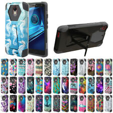 For Motorola Droid Turbo 2 Kinzie XT1585/ X Force Design Hybrid Stand Case Cover