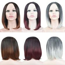 NEW Womens Straight BOBO Party Wig Cosplay Fancy Dress Anime Hair Wigs 3 Colors