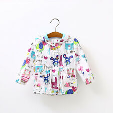 New Baby Toddler girls Boys spring Fall Hooded Coat printing Outerwear Jacket