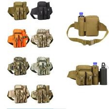 Outdoor Camping Trekking Fanny Pack Bum Waist Bag with Water Bottle Pouch Camo