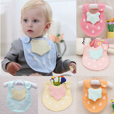 Kids Toddler Cotton Lunch Bibs Infant Baby Soft Saliva Towel Bib Head Scarf New