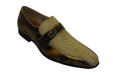 Mens Dress Casual Shoes MAJESTIC 96508 Camel Bronz Slip On Loafer Leather Lining