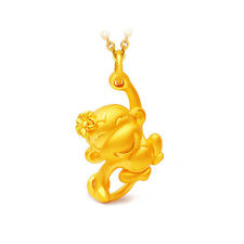 3D Animal Chinese Monkey Pendant Gold Plated Necklace Jewelry Good Gift