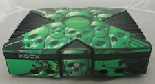 Microsoft Black Green Skull Skin Original Xbox Video Game Console Only Tested